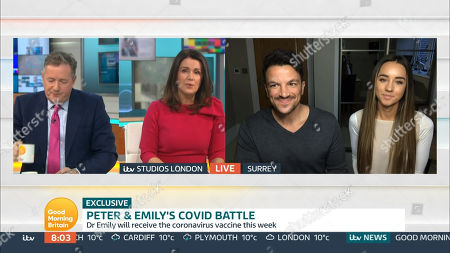 Stock Picture of Piers Morgan, Susanna Reid, Peter Andre and Emily MacDonagh