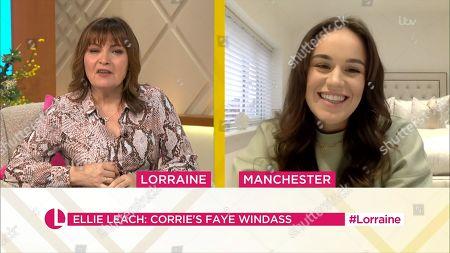 Lorraine Kelly and Ellie Leach