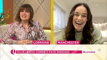 Stock Picture of Lorraine Kelly and Ellie Leach