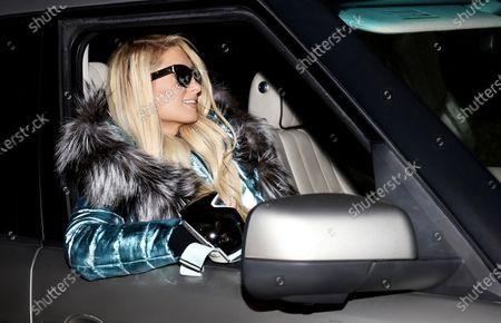 Editorial photo of Exclusive - Paris Hilton and Carter Reum skiing, Big Sky Resort, Montana, USA - 16 Jan 2021