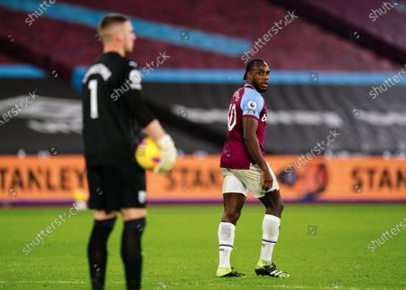Editorial picture of West Ham United v West Bromwich Albion, Premier League, Football, The London Stadium, London, UK - 19 Jan 2021