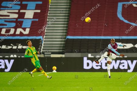 Angelo Ogbonna of West Ham United clears the ball