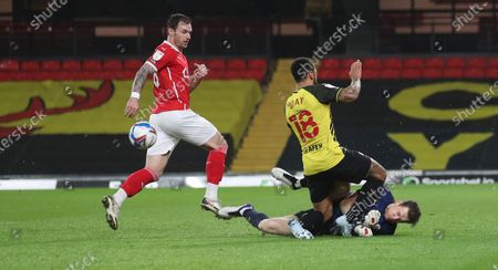 Editorial photo of Watford v Barnsley, EFL Sky Bet Championship, Football, Vicarage Road, London, UK - 19 Jan 2021