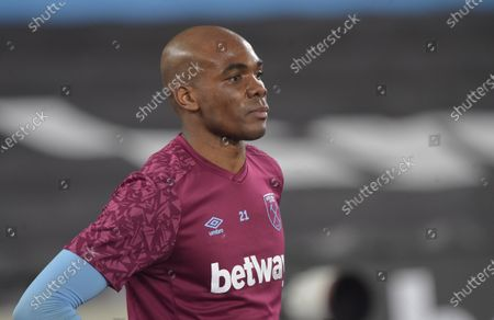 Angelo Ogbonna of West Ham United in action during warm up