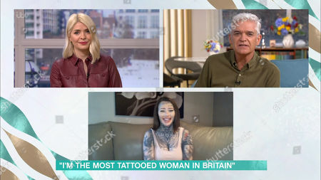 Stock Image of Holly Willoughby, Phillip Schofield and Becky Holt