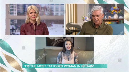 Holly Willoughby, Phillip Schofield and Becky Holt