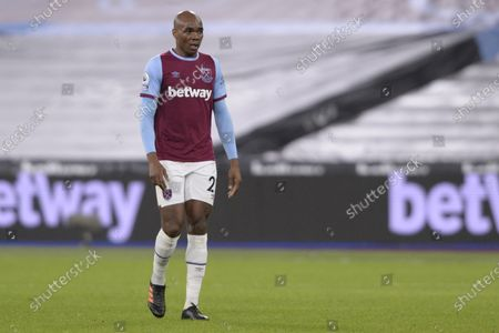 Angelo Ogbonna of West Ham United in action during Premier League match between West Ham United and West Brom at The London Stadium in London.