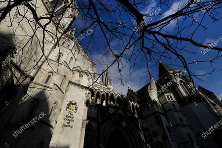 View of The Royal Courts Of Justice, in London, . Meghan, the Duchess of Sussex will ask a High Court judge to rule in her favour in her privacy action against the Mail on Sunday over the publication of a handwritten letter to her estranged father