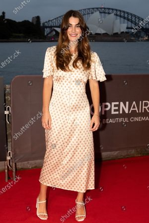 Stock Picture of Charlotte Best walks the red carpet.