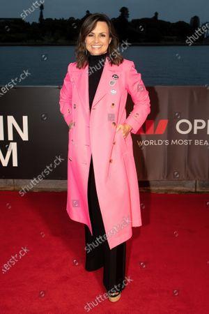 Stock Image of Lisa Wilkinson walks the red carpet.