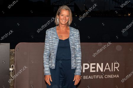 Layne Beachley walks the red carpet for the movie Penguin Bloom.