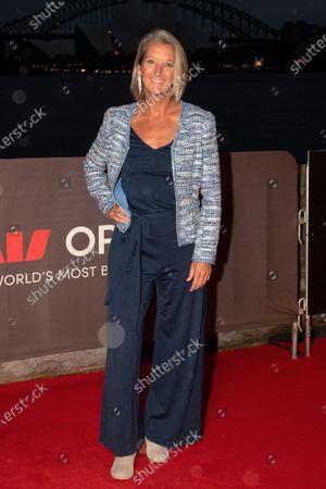 Stock Photo of Layne Beachley walks the red carpet.