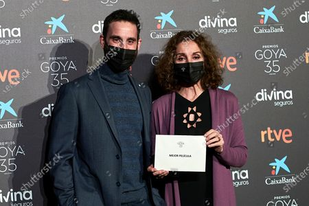 Dani Rovira and Ana Belen attend to 35th Goya Candidates Lecture at Academy of Cinematographic Arts and Sciences