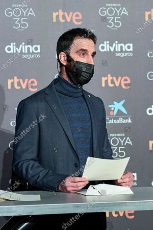 Dani Rovira attends to 35th Goya Candidates Lecture at Academy of Cinematographic Arts and Sciences