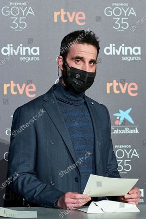 Stock Picture of Dani Rovira attends to 35th Goya Candidates Lecture at Academy of Cinematographic Arts and Sciences