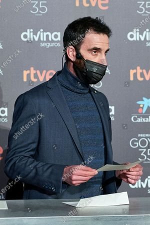 Stock Image of Dani Rovira attends to 35th Goya Candidates Lecture at Academy of Cinematographic Arts and Sciences