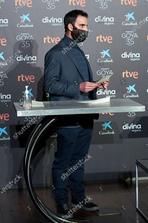 Stock Photo of Dani Rovira attends to 35th Goya Candidates Lecture at Academy of Cinematographic Arts and Sciences