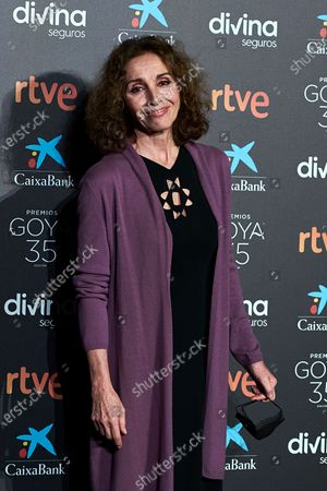 Ana Belen attends to 35th Goya Candidates Lecture at Academy of Cinematographic Arts and Sciences