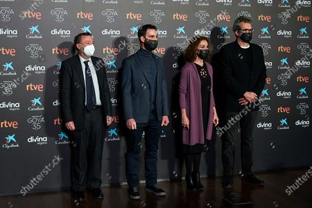 Federico Garayalde, Dani Rovira, Ana Belen and Mariano Barroso attend to 35th Goya Candidates Lecture at Academy of Cinematographic Arts and Sciences
