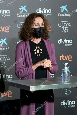 Stock Photo of Ana Belen attends to 35th Goya Candidates Lecture at Academy of Cinematographic Arts and Sciences