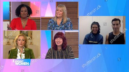 Charlene White, Linda Robson, Paris Fury, Janet Street-Porter, Rebekah Vardy and Andy Buchanan