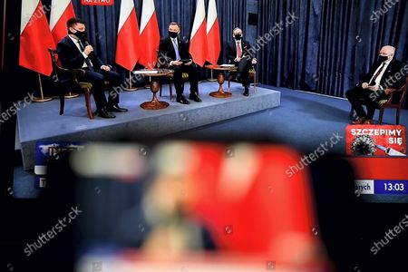 Editorial picture of Polish President Duda holds question and answer session broadcast over COVID-19 vaccination, Warsaw, Poland - 19 Jan 2021