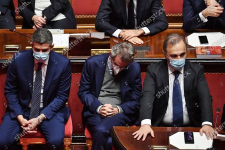 Editorial photo of Government crisis in Italy, Prime minister Giuseppe Conte at the Senate, Rome, Italy - 19 Jan 2021