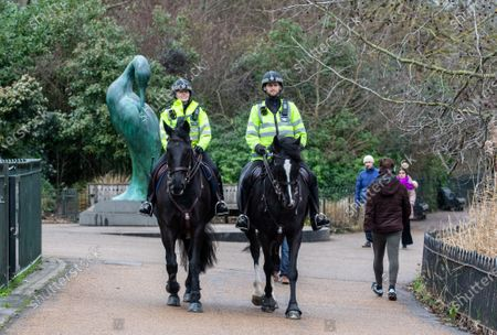 Police keep up patrols in Hyde Park in London as Home Secretary Priti Patel warned that there will be tougher enforcement of Covid-19 rules. Today Health Secretary Matt Hancock announced that he will self-isolates after an alert on his Covid-19 app while cases continue to spread through the UK. Last week, Foreign Secretary Dominic Rabb said that lockdown could be lifted in March but with tier systems in place as total Covid-19 deaths reach over 88,000 this weekend.