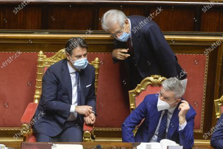 Editorial picture of Government crisis in Italy, The Prime Minister Giuseppe Conte asks the Senate for confidence, Rome, Italy - 19 Jan 2021