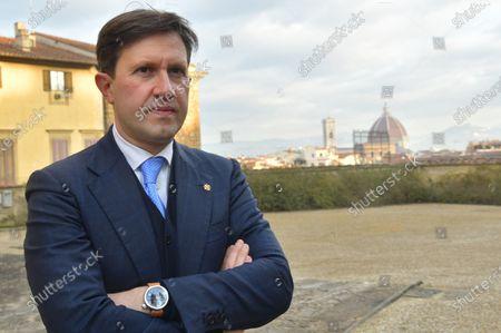 Stock Image of Mayor of Florence Dario Nardella in the Boboli Gardens in Florence
