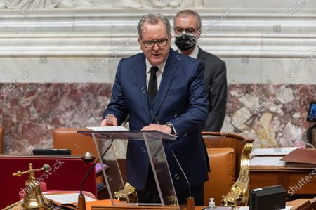Richard Ferrand during the weekly session of questions to the government at the French National Assembly.