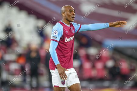 Angelo Ogbonna (21) of West Ham United during the Premier League match between West Ham United and West Bromwich Albion at the London Stadium, London