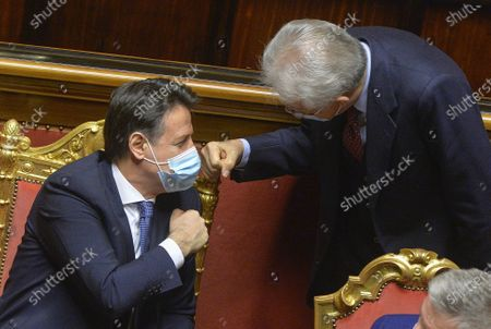 Editorial image of Political uncertainty as senate votes, Rome, Italy - 19 Jan 2021