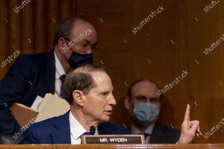 Ranking Member Ron Wyden, D-Ore., speaks during a Senate Finance Committee hearing to examine the expected nomination of Janet Yellen to be Secretary of the Treasury on Capitol Hill in Washington
