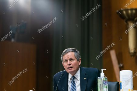 United States Senator Steve Daines (Republican of Montana), speaks during a Senate Finance Committee hearing for Janet L. Yellen, of California, President-elect Joe Biden's nominee for Treasury Secretary, in Washington DC, January 19th, 2021.