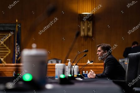United States Senator Ben Sasse (Republican of Nebraska), listens during a Senate Finance Committee hearing for Janet L. Yellen, of California, President-elect Joe Biden's nominee for Treasury Secretary, in Washington DC, January 19th, 2021.