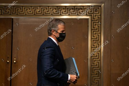 United States Senator John Thune (Republican of South Dakota), departs after attending the Senate Finance Committee hearing for Janet L. Yellen, of California, President-elect Joe Biden's nominee for Treasury Secretary, in Washington DC, January 19th, 2021.
