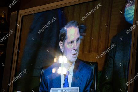 United States Senator Ron Wyden (Democrat of Oregon), Ranking Member, US Senate Committee on Finance, speaks during a Senate Finance Committee hearing for Janet L. Yellen, of California, President-elect Joe Biden's nominee for Treasury Secretary, in Washington DC, January 19th, 2021.