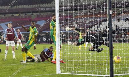 Editorial image of West Ham United vs West Bromwich Albion, London, United Kingdom - 19 Jan 2021