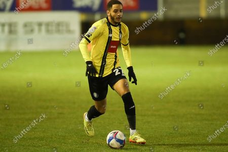 Harrogate Town's Jay Williams during the EFL Sky Bet League 2 match between Harrogate Town and Exeter City at the EnviroVent Stadium, Harrogate