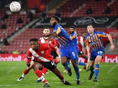 Editorial photo of Southampton v Shrewsbury Town, Emirates FA Cup Third Round, Football, St Mary's Stadium, Southampton, UK - 19 Jan 2021