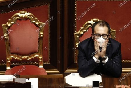 Editorial picture of Premier Guseppe Conte addresses the Senate, Rome, Italy - 19 Jan 2021