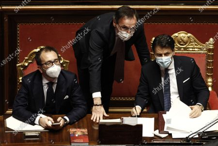 Editorial photo of Premier Guseppe Conte addresses the Senate, Rome, Italy - 19 Jan 2021