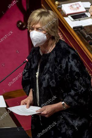 Editorial photo of Premier Guseppe Conte addresses the Senate, Rome, Italy - 19 Jan 2021