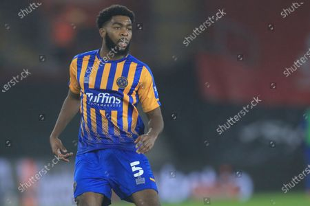 Stock Image of Shrewsbury's Ro-Shaun Williams in action during the FA Cup third round soccer match between Southampton and Shrewsbury Town at the St Mary's Stadium in Southampton, England