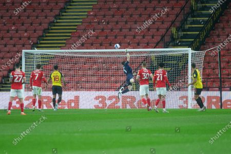 Goalkeeper Jack Walton of Barnsley FC in action