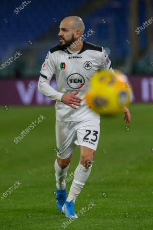 Riccardo Saponara of AC Spezia during the Italian Coppa Italia football match between AS Roma and AC Spezia at Olimpico Stadium in Rome, Italy on January 19, 2021. AC Spezia won the match 4-2.