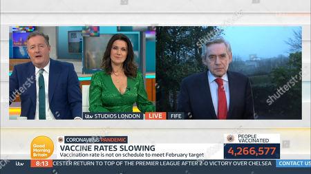 Piers Morgan, Susanna Reid and Gordon Brown