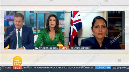 Piers Morgan, Susanna Reid and Priti Patel