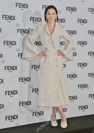 Stock Image of FENDI Japan new brand ambassdor, Japanese actor Ryoko Yonekura attends the press conference for FENDI Japan in Tokyo, Japan.